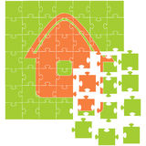 The house collected from puzzles. Vector illustration Royalty Free Stock Photo