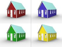 House Color Collage royalty free illustration