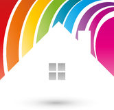 House, color, painter, Logo. House color, painter logo, colorful logo Stock Photo