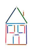 The house from color pencils Royalty Free Stock Photo