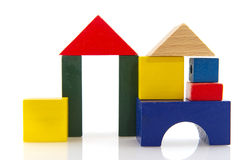 House from colorful blocks Royalty Free Stock Images