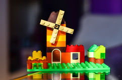 House from colorful building bricks Stock Photos