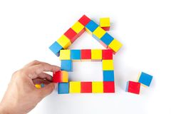 House of colorful cubes Stock Images