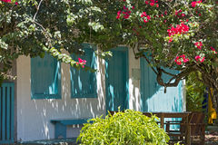 House with colorful facade, typical of Trancoso, Bahia Stock Photo