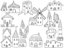 House coloring book vector illustration Stock Images