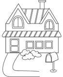 House coloring page. Useful as coloring book for kids Stock Photo