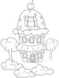 House coloring page Royalty Free Stock Image