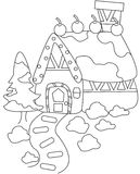 House coloring page. Useful as coloring book for kids Royalty Free Stock Images