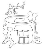 House coloring page Royalty Free Stock Photography