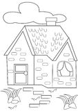 House coloring page Stock Photo