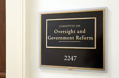 House Committee on Oversight and Government Reform Royalty Free Stock Photography