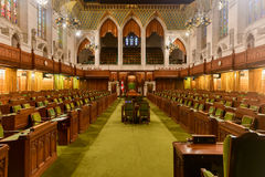 House of Commons of Parliament Building - Ottawa, Canada Stock Photo