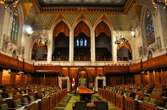 House of Commons of Parliament, Ottawa, Canada. The House of Commons of Parliament Building, Ottawa, Canada royalty free stock photos