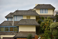 House with complex roofs Royalty Free Stock Images