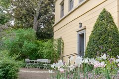 House of the composer Franz Liszt. Entrance of the house of the composer Franz Liszt in Weimar royalty free stock photo