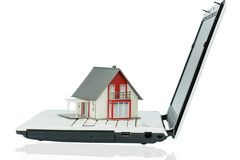 House on computer keyboard Royalty Free Stock Photography