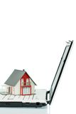 House on computer keyboard stock photo