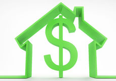 House Concept With Dollar Sign Stock Image