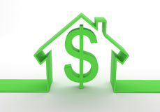 House Concept With Dollar Sign Royalty Free Stock Photo