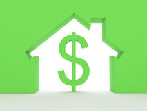 House Concept With Dollar Sign Royalty Free Stock Image