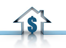 House Concept With Dollar Sign Royalty Free Stock Photography