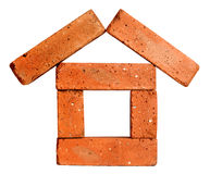 House concept made of bricks Royalty Free Stock Image