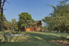 House with conference hall in Kudus Rus Game Lodge Royalty Free Stock Image