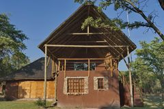 House with conference hall in Kudus Rus Game Lodge Stock Images