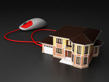 House connect with technology concept Royalty Free Stock Image