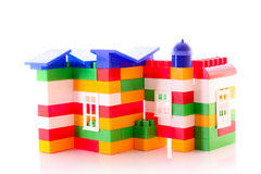House constructed from toy bricks Royalty Free Stock Photography