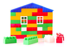 House constructed from toy bricks Stock Photography