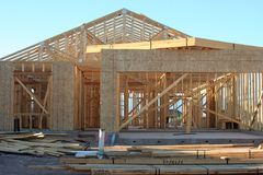 House Construction. Construction site for a new house Royalty Free Stock Image