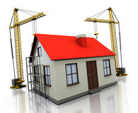 House construction Royalty Free Stock Image