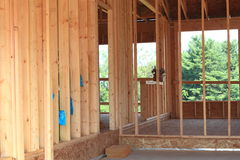 House Construction. Wood framing during house construction Royalty Free Stock Photos