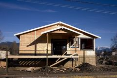 House Construction. A house under construction Stock Image