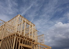 House construction. New home or house under construction Stock Photography