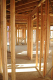 House Construction. Inside construction of two level house Royalty Free Stock Images