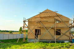House construction from  bricks Stock Photography