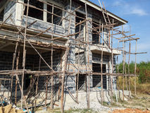 House construction. Construction and building a new home Stock Photos