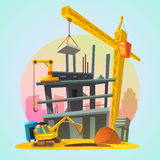 House construction cartoon Royalty Free Stock Images