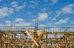 House construction in development Royalty Free Stock Photos