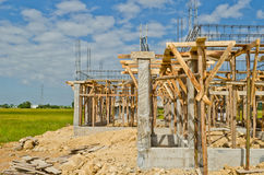 House construction in development Royalty Free Stock Image