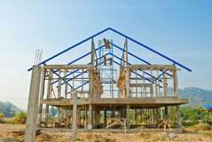 House construction in development Stock Photo