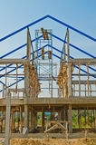 House construction in development Royalty Free Stock Photo