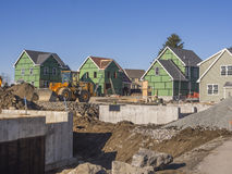 House construction development complex Royalty Free Stock Image