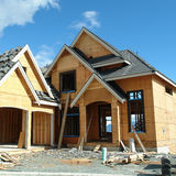 House Construction Exterior. Exterior view of a new under house construction Stock Photography