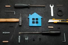 House construction, home tools concept.  stock photography