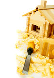 House construction. Joiner's works. The small Royalty Free Stock Images