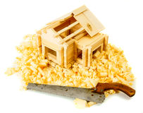 House construction. Joiner's works. The small Royalty Free Stock Image