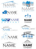 House construction logo. Set of house construction logos stock illustration